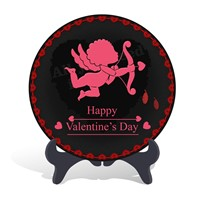 Cupid Arrow Valentine's Day holiday decorations and gift plate activated carbon carving wood craft