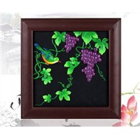 Decorative wall hanging harvest fruit solid wood photo frame relievo activated carbon carving craft