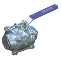 three-piece stainless steel ball valve