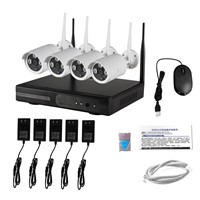 4 channel 960p wifi nvr kit cctv wireless ip kit system