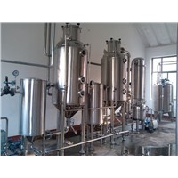 Double-effect vacuum concentrator (evaporator) energy saving