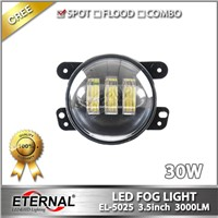 Jeep universal LED fog light 3.5inch 4x4 offroad Harley motorcycle fog lamp