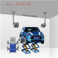 5D wheel alignment for double scissors lift 5D-618B+