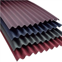 Corrugated asphalt roofing and corrugated siding panel