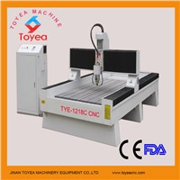 Glass CNC Engraving carving machine with strong machine structure TAIWAN square rail TYE-1218