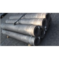 Arc furnace carbon graphite electrode with nipples
