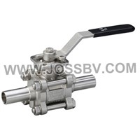 Three-Piece Sanitary Butt Weld High Cycle Direct Mount Ball Valve