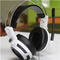 G-shark S3 Wired Surround Sound USB Gaming Headset with Vibration White