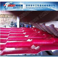 Synthetic resin tile making machine