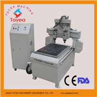 Good Quality Double heads CNC Engraving machine with air cooling spindle TYE-6090-2