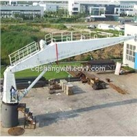 Marine electric hydraulic deck crane