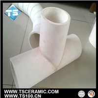 Abrasion Reisstant Alumina Al2O3 Three Way Pipe/T-Branch Pipe