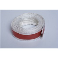 Coated silicone electric insulation fire sleeve with velcro