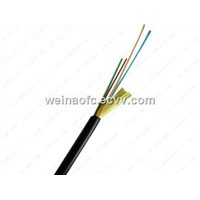 FTTH Outdoor Optical Cable Flexible 2,4,6,12 Cores Black TPU Jacket