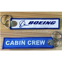 Wholesale Skydive Pilot Aviation Boeing Aircraft Logo Embroidery Keychain for Pilots