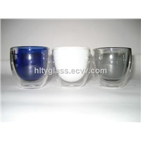 Borosilicate Glass Double Wall Cup
