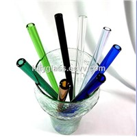 Colored Glass Drinkware/ Colored Glass Straw