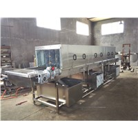 Cleaning and drying equipment for food turnover box