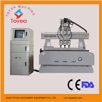 High quality Three operations  Wood CNC Engraving machine with Computer cabinet TYE-1325-3S