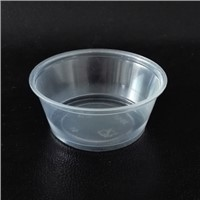 3.25 oz translucent PP Souffle Cup / Portion Cup /Sauce cup with PET lid - 2500 / Case