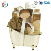 OEM high quality Gold Tub Spa Bath Gift Set wholesale