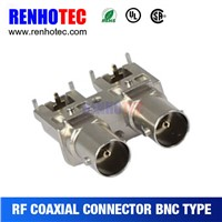75ohm bnc connectors, R/A bnc,bnc two jack pcb mount receptacle, electrical accessories