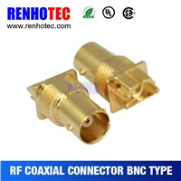 75ohm bnc jack female connector,connectors, bnc jack for pcb, gold plating bnc receptacle, isolate