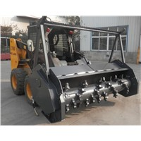 skid steer bobcat loader forestry mulcher attachment