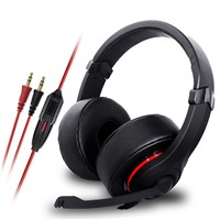 Big headband portable headphone with microphone for Computer TV Mobile MP3