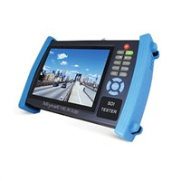 7 inch HD SDI Tester with digital multimeter / optical power meter / TDR test function