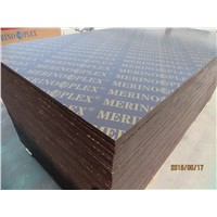 MERINOPLEX  BRAND FILM FACED PLYWOOD, MR GLUE, POPLAR CORE,