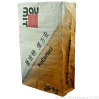 25kg white kraft paper valve bag for sand and cement