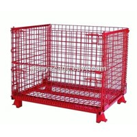 Collapsible Bulk Metal Wire Mesh Container for warehouse