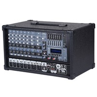 8 channel Box Powered Mixer with USB, SD , LCD Display