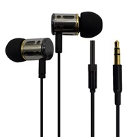 Hotselling Metal Mbile cellphone earphones with microphone