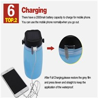 silicone folding and compress/USB charge/lighting/solar energy portable cups in outdoor