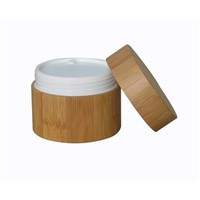 100gram Cosmetic Bamboo Jar with PP Liner with Liner Lid Wooden Pot