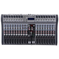 20 channel Professional Recording Stage Audio Mixer with USB, SD, LCD display