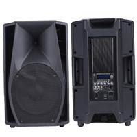 "15"" Plastic Sound Powered Speakers with Bluetooth, USB, SD, LCD Display"