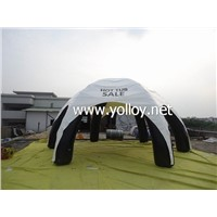 Inflatable sealed spider dome tent