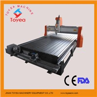 Two functions CNC Router for flat material and cylindrical shape with rotary axis TYE-1530T