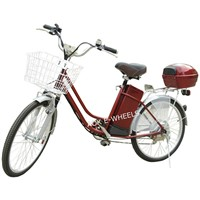 250W Brushless Motor Electric Bicycle with Basket and Pedal (EB-070)