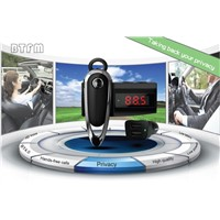 Functional Bluetooth Talking Earphone with FM Transmitter  For Car