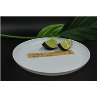 "Guanghe 6 "" WHITE plastic disposable ROUND PLATES"