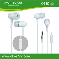Hot selling 3.5mm Plug  In-Ear Earphone for Smart Phones with  Microphone