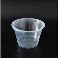 2.5 oz translucent PP Souffle Cup / Portion Cup /Sauce cup with PET lid - 2500 / Case