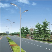 12 Meter Satin Brushed Aluminum Street Double Arm Light Pole Supply