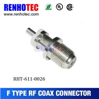 straight F connector female cable F jack connector, automotive electrical connector types