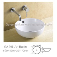 bathroom sink art basin table top round model