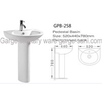 pedestal basin ceramic sink wash basin